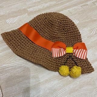 プチジャム(Petit jam)のプチジャム   petitjam 麦わら帽子 50 女の子 夏 帽子(帽子)