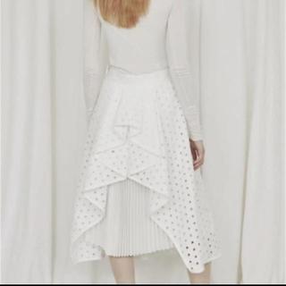 バーニーズニューヨーク(BARNEYS NEW YORK)のタグ付き 新品 SHE Tokyo kelly  レースドットスカート 36(ロングスカート)