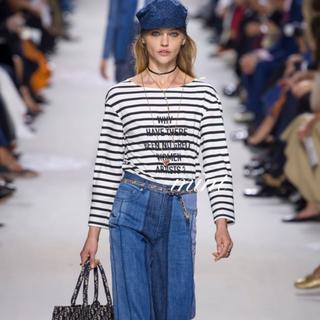 クリスチャンディオール(Christian Dior)の確実正規品 クリスチャンディオール 2019SS ボーダーロングTシャツ(Tシャツ(長袖/七分))