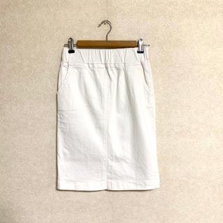 ブージュルード(Bou Jeloud)のGready Brilliant 白デニムのタイトスカート(ひざ丈スカート)