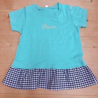 新品80cm 女の子Tシャツ 綿100% (Tシャツ)