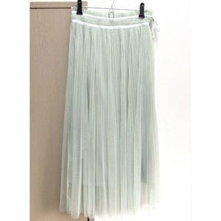 ダズリン(dazzlin)の【ダズリン】チュールスカート グリーン Sサイズ(ひざ丈スカート)