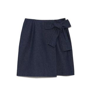 リリーブラウン(Lily Brown)のリリーブラウン ラップ風台形スカート(ミニスカート)