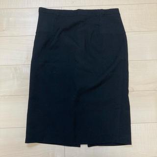 マタニティ  黒スカート オフィス サイズL(マタニティボトムス)