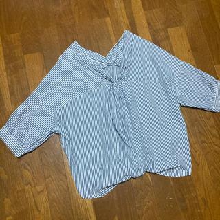 ミスティウーマン(mysty woman)のこなれシャツ ストライプ ブラウス(シャツ/ブラウス(長袖/七分))