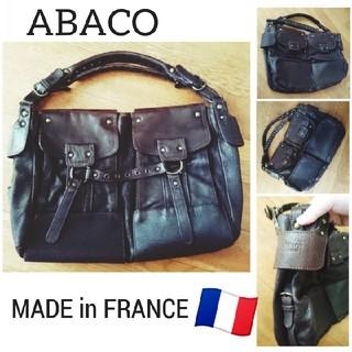 エディション(Edition)の【 ABACO 】vintage レザー ショルダー バッグ Franc🇫🇷(ショルダーバッグ)