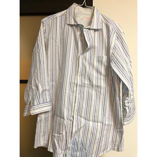 ビームス(BEAMS)のBEAMS ビームス ストライプシャツ 七分丈 Lサイズ(シャツ)