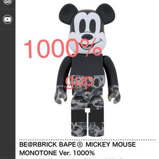 メディコムトイ(MEDICOM TOY)のBE@RBRICK BAPE® MICKEY MOUSE 1000%(ぬいぐるみ/人形)