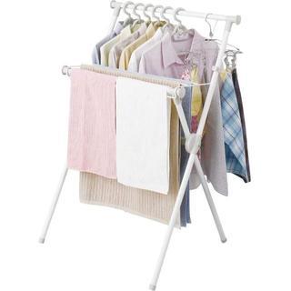 アイリスオーヤマ 洗濯物干し 室内物干し 折りたためる ホワイト 幅70cm X(店舗用品)