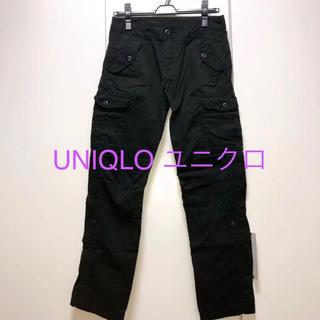 ユニクロ(UNIQLO)のUNIQLO ユニクロ カーゴパンツ 黒(ワークパンツ/カーゴパンツ)
