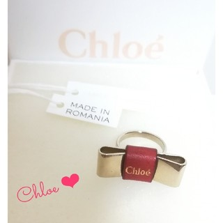 クロエ(Chloe)のChloe  【新品  未使用】 リボン赤 リング(リング(指輪))