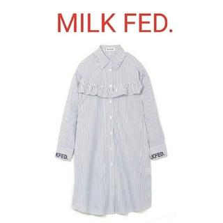 ミルクフェド(MILKFED.)のMILK FED. フリルワンピース(ひざ丈ワンピース)
