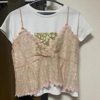 フラワー(flower)のTシャツ、ビスチェセット(キャミソール)