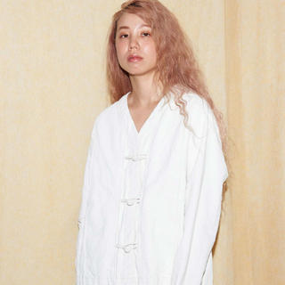 BEAUTY&YOUTH UNITED ARROWS - caph 白顔料ワッシャーVネックジャケット