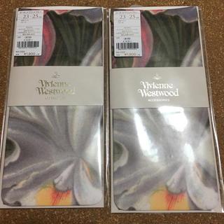 ヴィヴィアンウエストウッド(Vivienne Westwood)のオーキッドプリントクルー2点ソックス(ソックス)