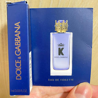 ドルチェアンドガッバーナ(DOLCE&GABBANA)のK by DOLCE&GABBANA EAU DE TOILETTE  1ml(香水(男性用))