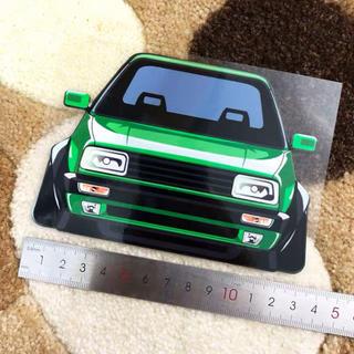 フォルクスワーゲン(Volkswagen)のVolkswagen GOLFⅡ  JettaⅡ  ステッカー green(車外アクセサリ)