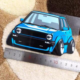 フォルクスワーゲン(Volkswagen)のVolkswagen GOLFⅡ  JettaⅡ  ステッカー blue(車外アクセサリ)