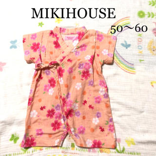 mikihouse - ミキハウス ホットビスケッツ 甚平 ロンパース 50 60 新生児 夏 ガーゼ