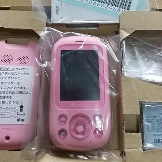 富士通 - 【SIMフリー】【未使用】キッズケータイ F-03J みまもりケータイ ピンク