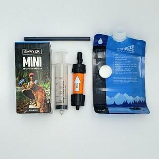 【新品】SAWYER MINI ソーヤー ミニ オレンジ 携帯用 浄水器(登山用品)