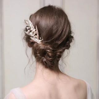 新品★リーフモチーフゴールドヘッドドレス(ヘッドドレス/ドレス)