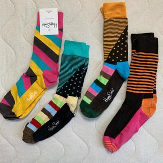 クツシタヤ(靴下屋)のhappy socks 4足セット(ソックス)