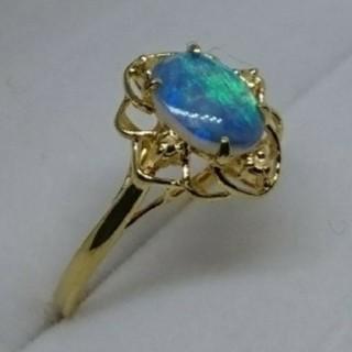 オパールの指輪K18YGシンプル(リング(指輪))