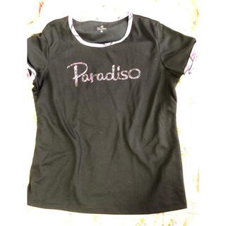パラディーゾ(Paradiso)の💝新品 パラディーゾ  シャツ L   テニス ブラック 💖(ウェア)