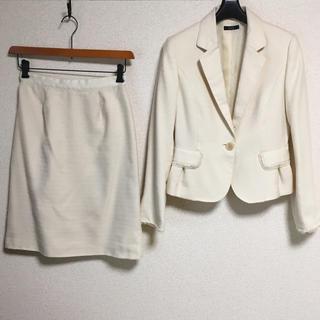 アーヴェヴェ(a.v.v)のa.v.v アー・ヴェ・ヴェ スカートスーツ 38 W66 ラメ OL DMW(スーツ)