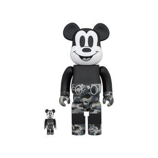 メディコムトイ(MEDICOM TOY)のBearbrick x Bape Mickey Mouse Monotone (その他)