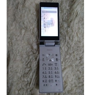 アクオス(AQUOS)のSIMフリー携帯電話【504SH】Y!mobile ガラホ ガラケー 若干難あり(携帯電話本体)
