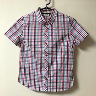 ラコステ(LACOSTE)のラコステ チェックボタンシャツ 半袖シャツ  40(シャツ/ブラウス(半袖/袖なし))