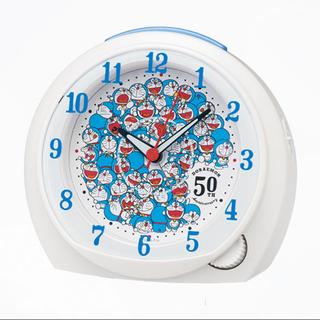 セイコー(SEIKO)のセイコー 目覚まし時計 ドラえもん 50周年限定 白パール CQ803W(キャラクターグッズ)