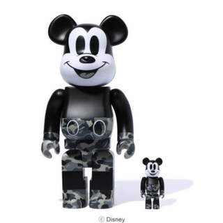 メディコムトイ(MEDICOM TOY)のBE@RBRICK BAPE®MICKEY MOUSE 100% & 400%(その他)