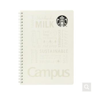 Starbucks Coffee - スターバックス キャンパスリングノート ホワイト スタバ 手帳 メモ帳 文房具