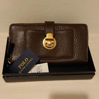 ポロラルフローレン(POLO RALPH LAUREN)のポロラルフローレン 未使用 ファスナー式長財布 ブラウン(財布)