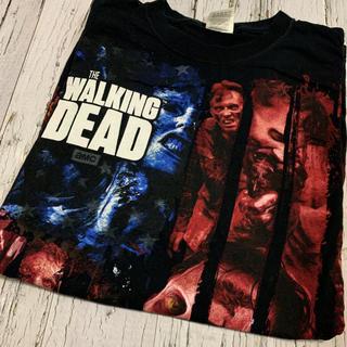 Tシャツ ウォーキングデッド US古着 ビッグプリント ビッグシルエット  黒(Tシャツ/カットソー(半袖/袖なし))