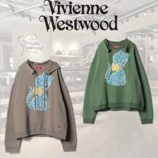 ヴィヴィアンウエストウッド(Vivienne Westwood)のヴィヴィアン ウエストウッド 新品 オーブ スポッティ キャット パーカー(パーカー)