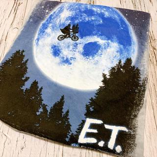 Tシャツ メンズ E.T. 映画 ムービー タイダイ ビッグプリント グレー(Tシャツ/カットソー(半袖/袖なし))