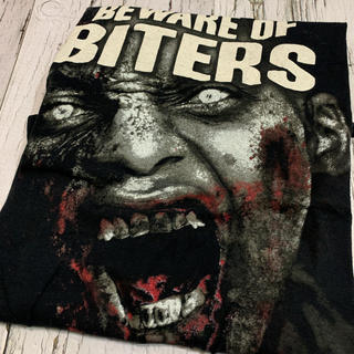 Tシャツ ウォーキングデッド US古着 ビッグプリント デカロゴ ブラック  黒(Tシャツ/カットソー(半袖/袖なし))