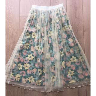 ドットアンドストライプスチャイルドウーマン(Dot&Stripes CHILDWOMAN)の花柄チュールスカート (ロングスカート)