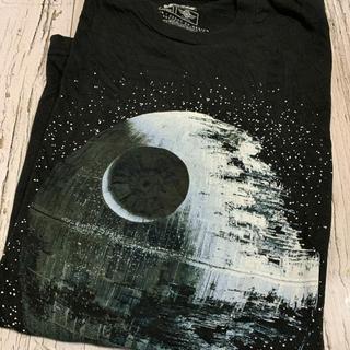 Tシャツ メンズ スターウォーズ STARWARS ビッグプリント 黒 ブラック(Tシャツ/カットソー(半袖/袖なし))