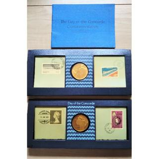 コンコルド就航特別記念セット2種(イギリスとフランス)他5点(貨幣)