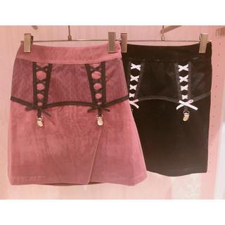 ハニーシナモン(Honey Cinnamon)の♡ベルベットスカート♡(ミニスカート)