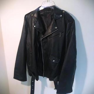 ザラ(ZARA)のダブルライダースジャケット オーバーサイズ  韓国 dude9(ライダースジャケット)