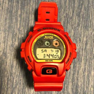 アベイシングエイプ(A BATHING APE)のエイプ BAPE CASIO G-SHOCK DW RED(腕時計(デジタル))