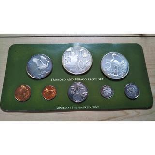 1975年度 トリニダード・トバゴ 公式通貨プルーフセット(コイン8種)(貨幣)