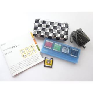 ニンテンドーDS(ニンテンドーDS)の任天堂☆DS Lite☆シルバー☆ソフト5個セット(携帯用ゲーム機本体)