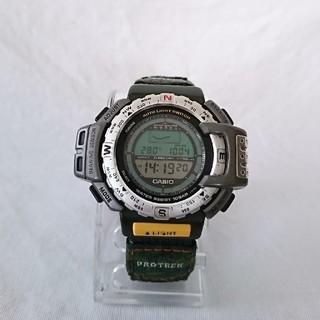 カシオ(CASIO)のカシオプロトレックwwfトリプルセンサーアウトドアキャンプ登山コンパス(腕時計(デジタル))